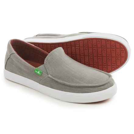 Sanuk Sideline TX Shoes - Slip-Ons (For Men) in Grey Linen - Closeouts