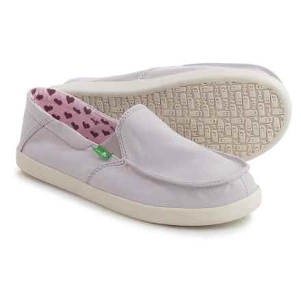 Sanuk Sideskip Cloud Shoes - Slip-Ons (For Big Girls) in Purple - Closeouts