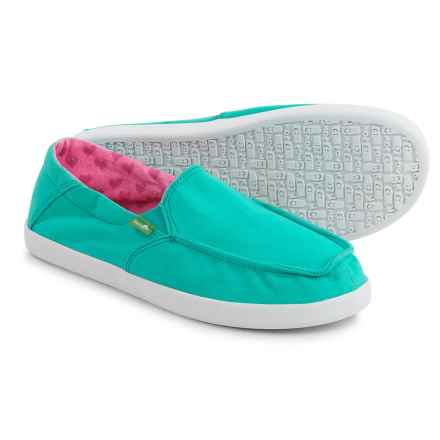 Sanuk Sideskip Cloud Shoes - Slip-Ons (For Big Girls) in Turquoise - Closeouts