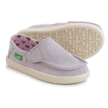 Sanuk Sideskip Cloud Slip-On Shoes (For Little Girls) in Purple - Closeouts
