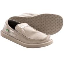 Sanuk Skipjack Shoes - Slip-Ons (For Men) in Natural/Seersucker - Closeouts