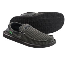 Sanuk Skipjack Shoes - Slip-Ons (For Men) in Washed Black Stripe - Closeouts
