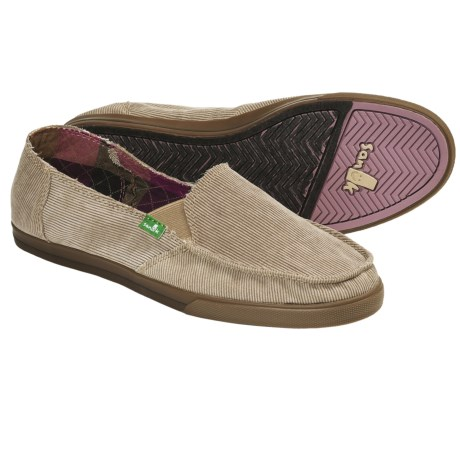Sanuk Standard Corduroy Shoes (For Women) in Charcoal