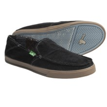 Sanuk Standard Corduroy Slip-On Shoes (For Men) in Black - Closeouts