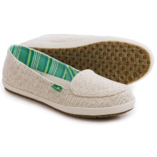 Sanuk The Boardwalk Canvas Shoes - Slip-Ons (For Women) in Natural - Closeouts