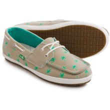 Sanuk Tropical Sailaway 2 Shoes (For Women) in Natural Mint Palms - Closeouts