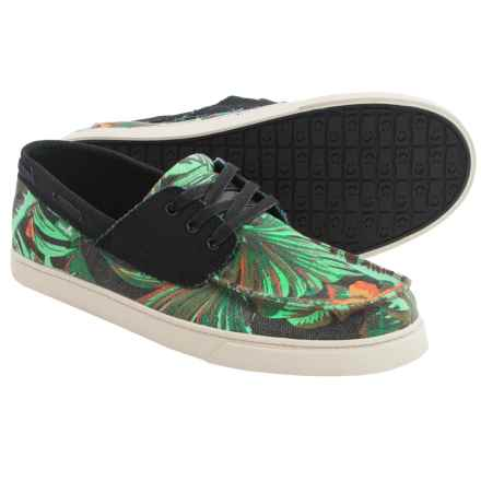Sanuk Tropical Shipwrecked Lace Shoes (For Men) in Black Tropical/Black - Closeouts