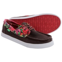 Sanuk Tropical Shipwrecked Lace Shoes (For Men) in Brown/Red Hawaiian - Closeouts