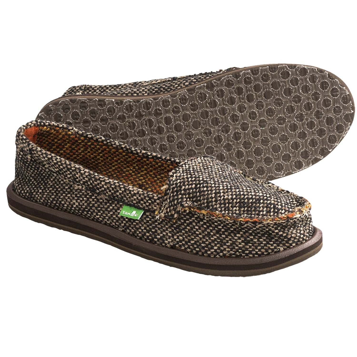 Aetrex Essence Valerie Slip-On Skimmer Casual Shoes in Brown Lamb
