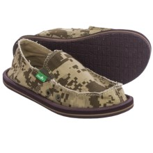 Sanuk Vagabond Canvas Shoes - Slip-Ons (For Little and Big Boys) in Brown Digital Camo - Closeouts