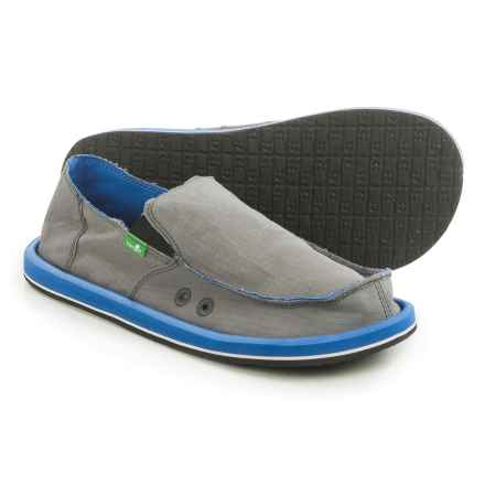 Sanuk Vagabond Nights Shoes - Slip-Ons (For Men) in Charcoal/Royal - Closeouts
