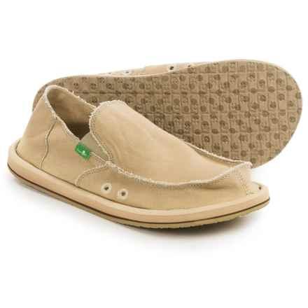 Sanuk Vagabond Sidewalk Surfer Shoes - Slip-Ons (For Men) in Khaki - Closeouts