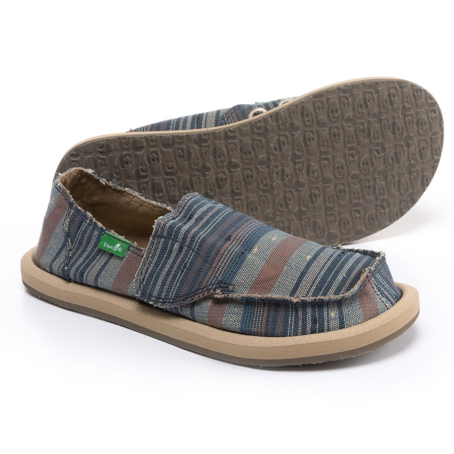 Sanuk Vagabond Tribal Shoes (For Girls) in Vintage Denim Stripe - Closeouts