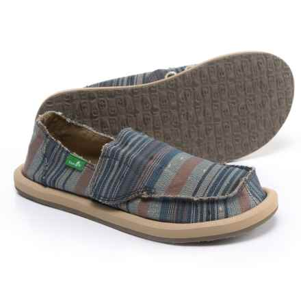 Sanuk Vagabond Tribal Shoes (For Girls) in Vintage Denim Stripe - Closeouts