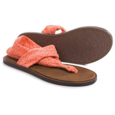 Sanuk Yoga Devine Sandals (For Women) in Hot Coral - Closeouts