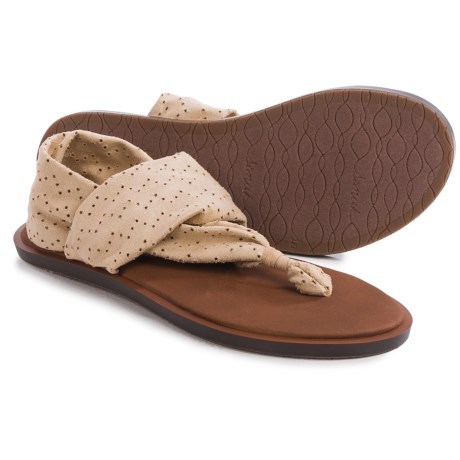 Sanuk Yoga Devine Sandals (For Women) in Light Khaki