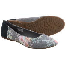 Sanuk Yoga Eden Ballet Flats (For Women) in Black/Floral - Closeouts