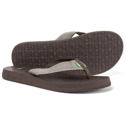 Sanuk Yoga Mat and Webbing Flip-Flops (For Women) in Brown/Natural - Closeouts