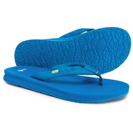 74f397ed8138c5 Sanuk Yoga Mat Wander Spectrum Flip-Flops (For Women) in Indigo Bunting