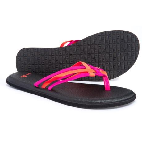 702074724ef927 Sanuk Yoga Salty Flip-Flops (For Women) in Cabaret   Nasturtium