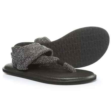 Sanuk Yoga Sling 2 Knitster Sandals (For Women) in Black - Closeouts