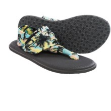Sanuk Yoga Sling 2 Prints Sandals (For Women) in Aqua/Multi Palms - Closeouts