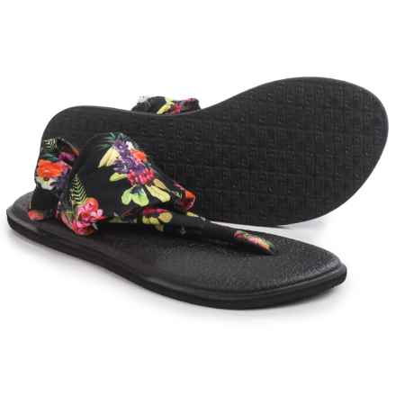 Sanuk Yoga Sling 2 Prints Sandals (For Women) in Black Tropic Amazon - Closeouts