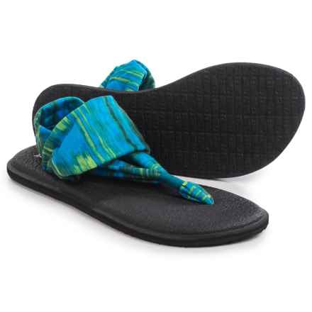 Sanuk Yoga Sling 2 Prints Sandals (For Women) in Blue Ikat - Closeouts