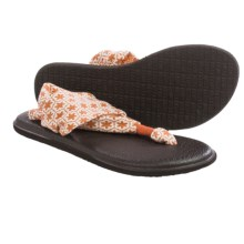 Sanuk Yoga Sling 2 Prints Sandals (For Women) in Melon Tile - Closeouts
