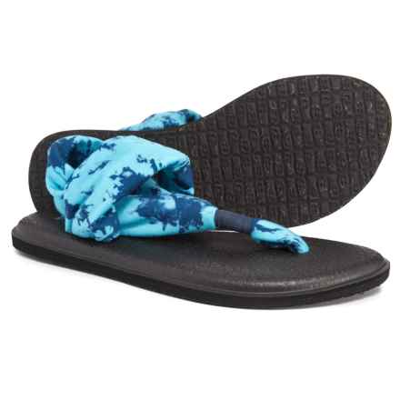 Sanuk Yoga Sling 2 Prints Sandals (For Women) in Navy Tye Dye