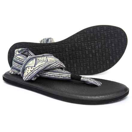 Sanuk Yoga Sling 2 Prints Sandals (For Women) in Tan / Black Geo Stripes