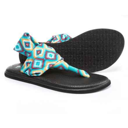 Sanuk Yoga Sling 2 Prints Sandals (For Women) in The Ranch Aqua - Closeouts
