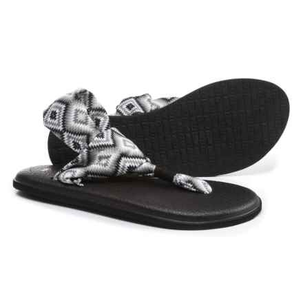 Sanuk Yoga Sling 2 Prints Sandals (For Women) in The Ranch Black/White - Closeouts