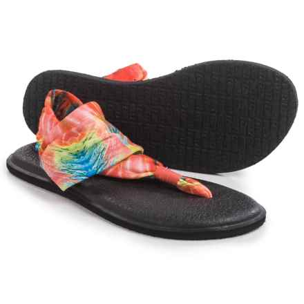 Sanuk Yoga Sling 2 Prints Sandals (For Women) in Watermelon Multi Print - Closeouts