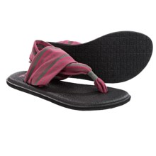 Sanuk Yoga Sling 2 Sandals (For Women) in Charcoal/Hot Pink - Closeouts