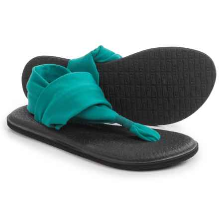 Sanuk Yoga Sling 2 Sandals (For Women) in Teal - Closeouts