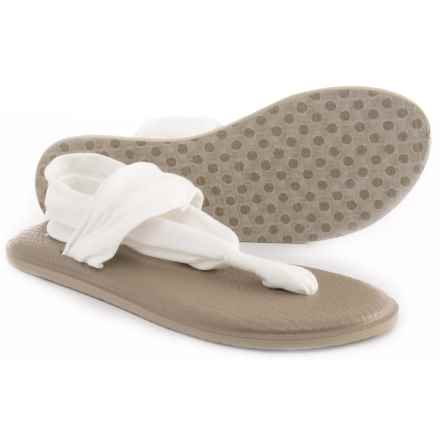Sanuk Yoga Sling 2 Sandals (For Women) in White/Light Tan - Closeouts
