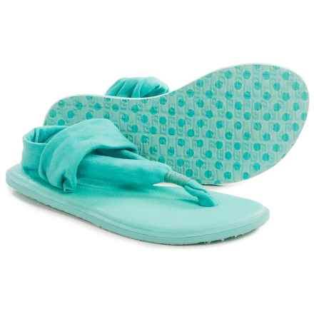 Sanuk Yoga Sling Burst Sandals (For Little and Big Girls) in Turquoise/Light Turquoise - Closeouts