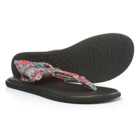 Sanuk Yoga Sling Ella Prints Sandals (For Women) in Lead Grey/Itsy Ditsy Floral - Closeouts