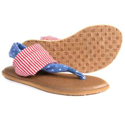 Sanuk Yoga Sling Patriot Sandals (For Girls) in America Dots / Stripes - Closeouts