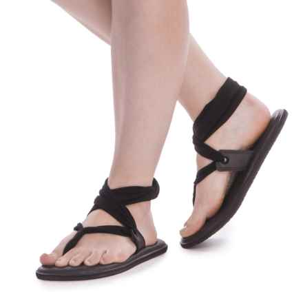 Sanuk Yoga Slinglet Sandals (For Women) in Black - Closeouts
