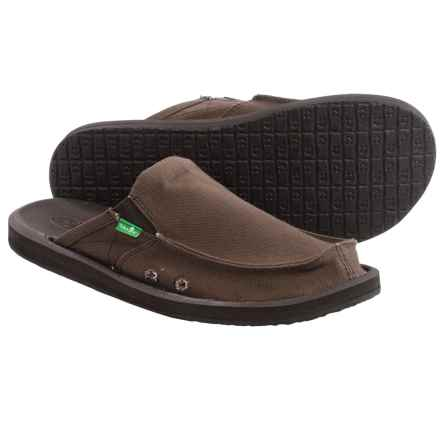 Sanuk You Got My Back 2 Basics Shoes - Slip-Ons (For Men) in Dark Brown - Closeouts