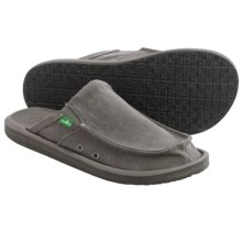 Sanuk You Got My Back 2 Basics Shoes - Slip-Ons (For Men) in Grey Canvas - Closeouts