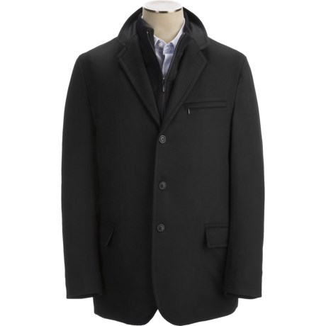 Sanyo Stratton Hybrid Micro Wool Sport Coat (For Men) in Black