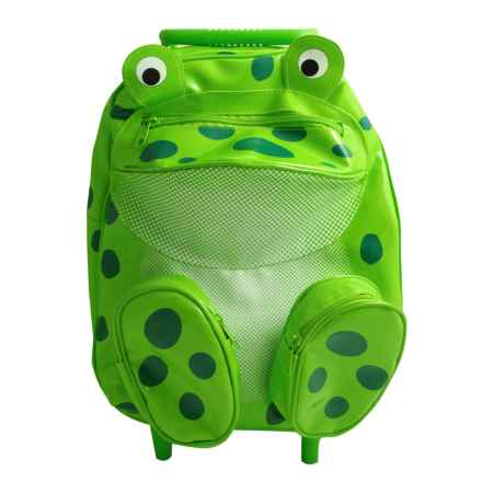 Sassafras Frog Animal Friends Rolling Backpack (For Kids) in Green - Closeouts