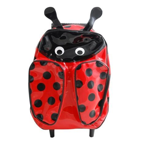 Sassafras Ladybug Animal Friends Rolling Backpack (For Kids) in Red/Black