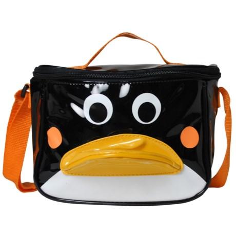 Sassafras Penguin Lunch Bag (For Kids) in Black/White/Orange