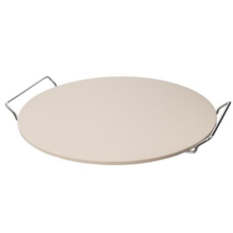 """Sassafras Round Superstone® Baking Stone - 15"""" in Off White/Silver"""