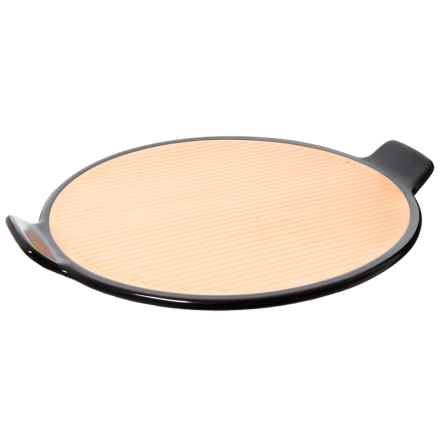 """Sassafras Superstone® Barbecue Pizza Stone - 14.25"""" in Black/Tan - Closeouts"""