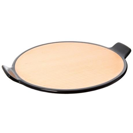 """Sassafras Superstone® Barbecue Pizza Stone - 14.25"""" in Black/Tan"""